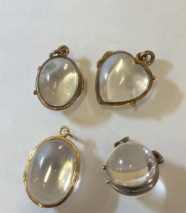 Lowther Antiques crystal lockets