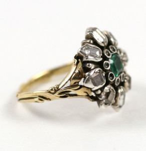 Glorious Antique Jewelry Georgian emerald cluster ring (I now own)