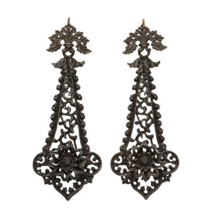 Berlin Iron earrings at Glorious Antique Jewelry