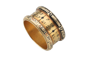 Perpetual-Calendar-Ring.-Gold-and-Blackenamel