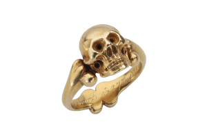 From The Benjamin Zucker Cycles of Life collection Memento Mori Memorial Ring of the 10th Viscount Kilmorey England, c. 1700