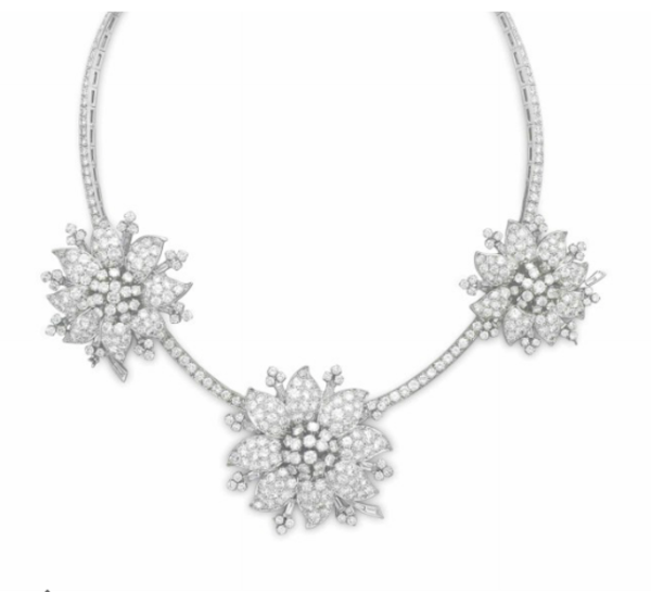 van cleef and arpels clip necklace
